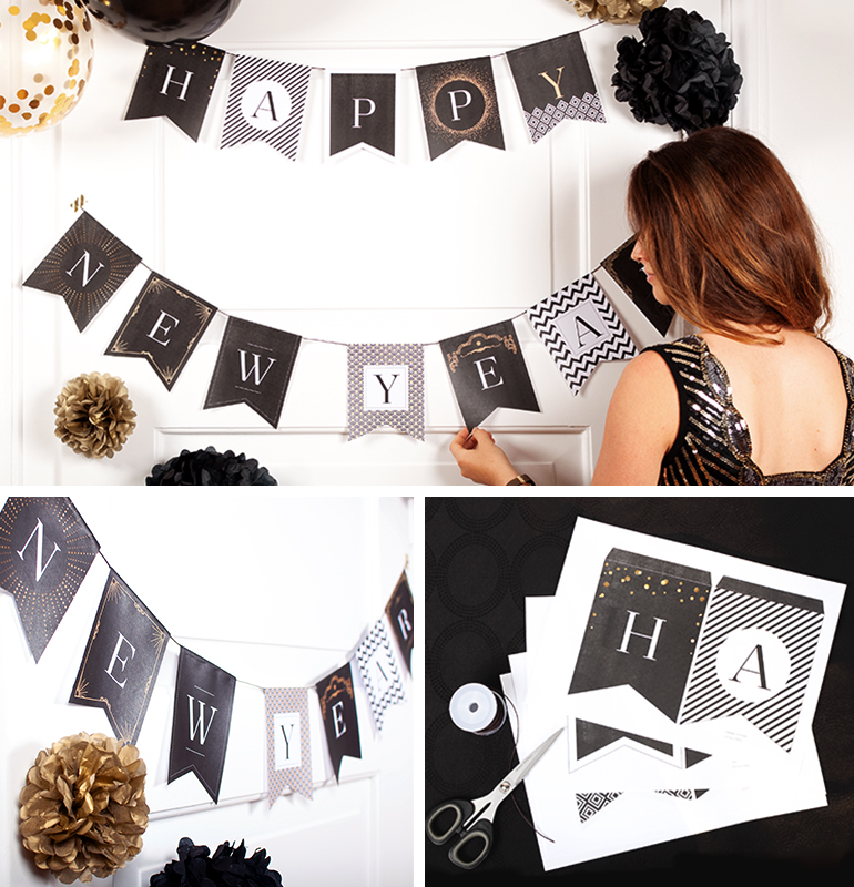 "DIY Girlande ""Happy New Year"""