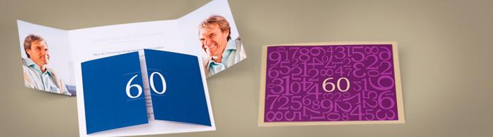 einladung zum 60 geburtstag einladungskarten selbst. Black Bedroom Furniture Sets. Home Design Ideas