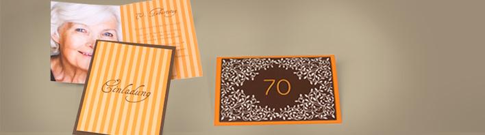 einladung zum 70 geburtstag einladungskarten selbst. Black Bedroom Furniture Sets. Home Design Ideas